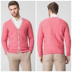 New Coral Cotton Button Down Cardigan Sweater